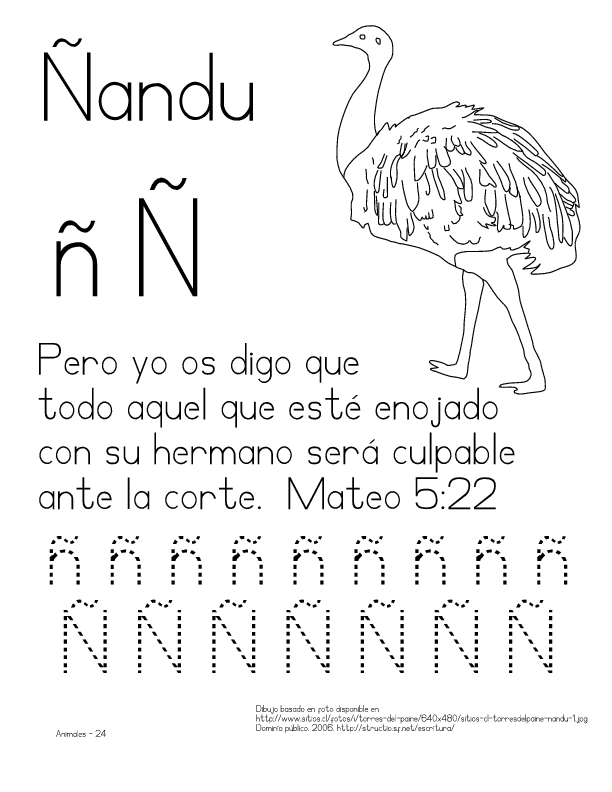 of Nandu Colouring Pages (page 3)